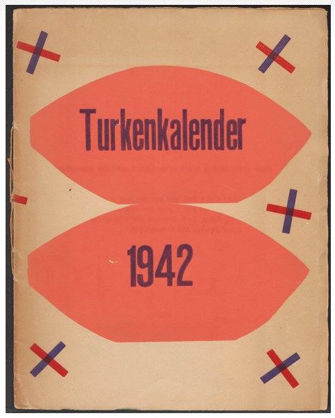 H.N. Werkman: Turkenkalendar [Calendar of the Turks], 1942, (published 1941).