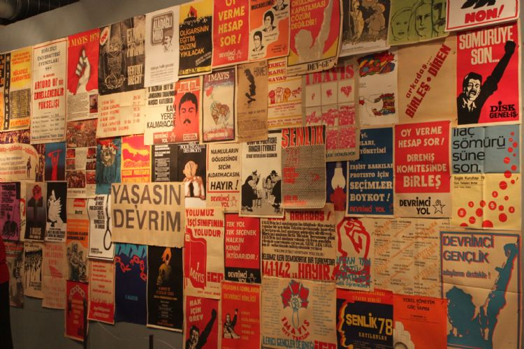 "View of ""Let's Go to Postering: 1963-1980: The Turkish Left's Visual Adventure"", DEPO, Istanbul, 2013."