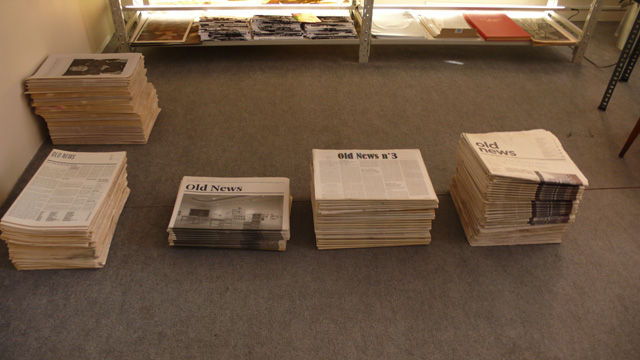 Installation of Old News at BAS, Istanbul.