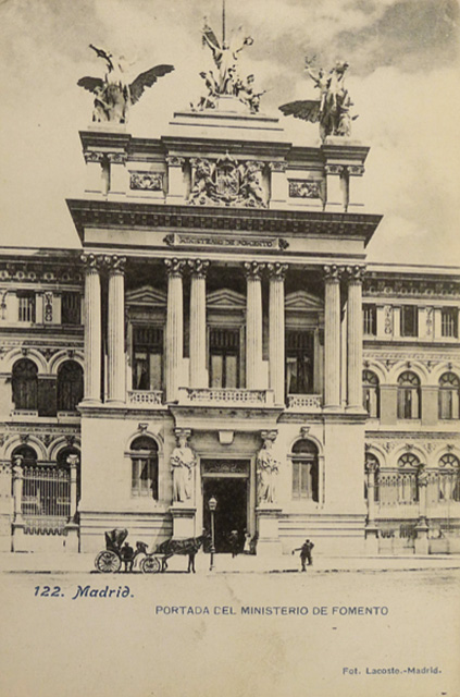 Early 20th century postcard depicting the Ministry of Development.