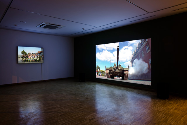 "Exhibition view of Köken Ergun's ""Crowds and Power"" at SALT Ulus, Ankara. Photo by Cemil Batur Gökçeer."