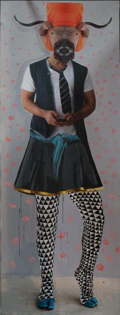 Rokni & Ramin Haerizadeh and Hesam Rahmanian, Fetish 4, 2014, Mixed-media on canvas, 403 x 153 cm.