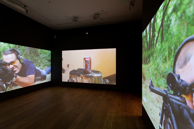 Vahap Avşar, Shoot-out, 2012. Video installation.