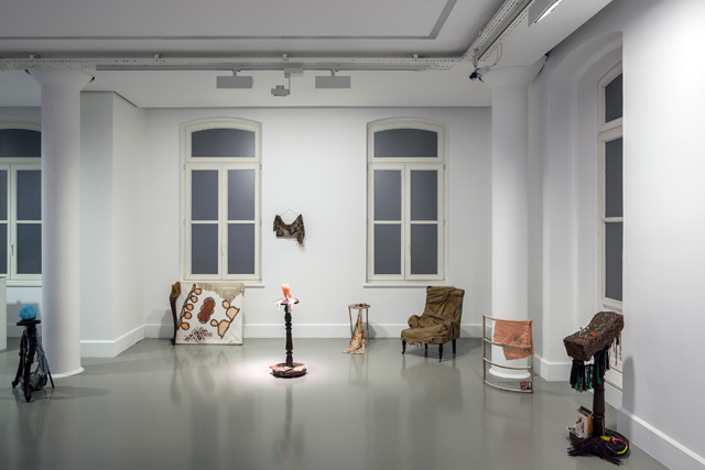 "Füsun Onur, ""Dream of Old Furniture"", 1985. Installation view: ""Through the Looking Glass"", ARTER, 2014. Vehbi Koç Foundation Contemporary Art Collection. Photo: Murat Germen."