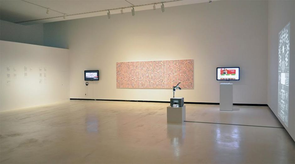 Paolo Cirio, Face to Facebook, 2011. Mixed media, installation view.