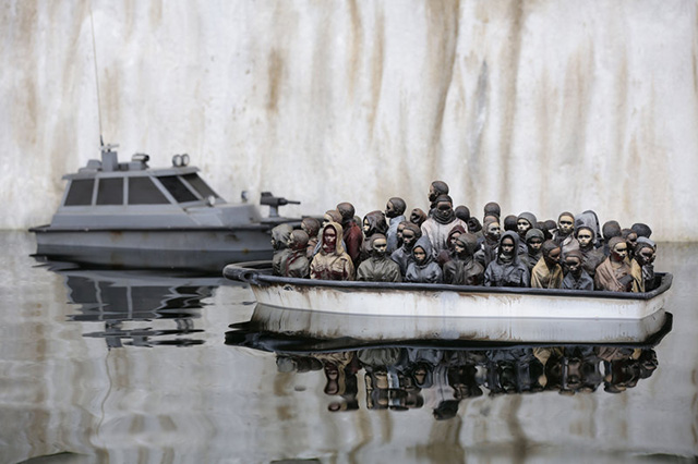View of Banksy's Dismaland (2015).