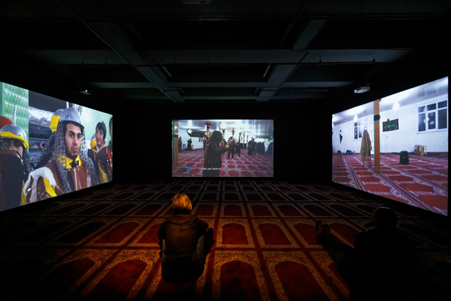 Köken Ergun, ​Ashura, installation view at SALT Galata, Istanbul, 2014. Photo by Batu Tezyüksel.
