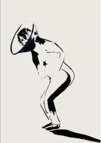 İnci Eviner, European Union, 2009. Ink on paper, 29 x 21 cm.
